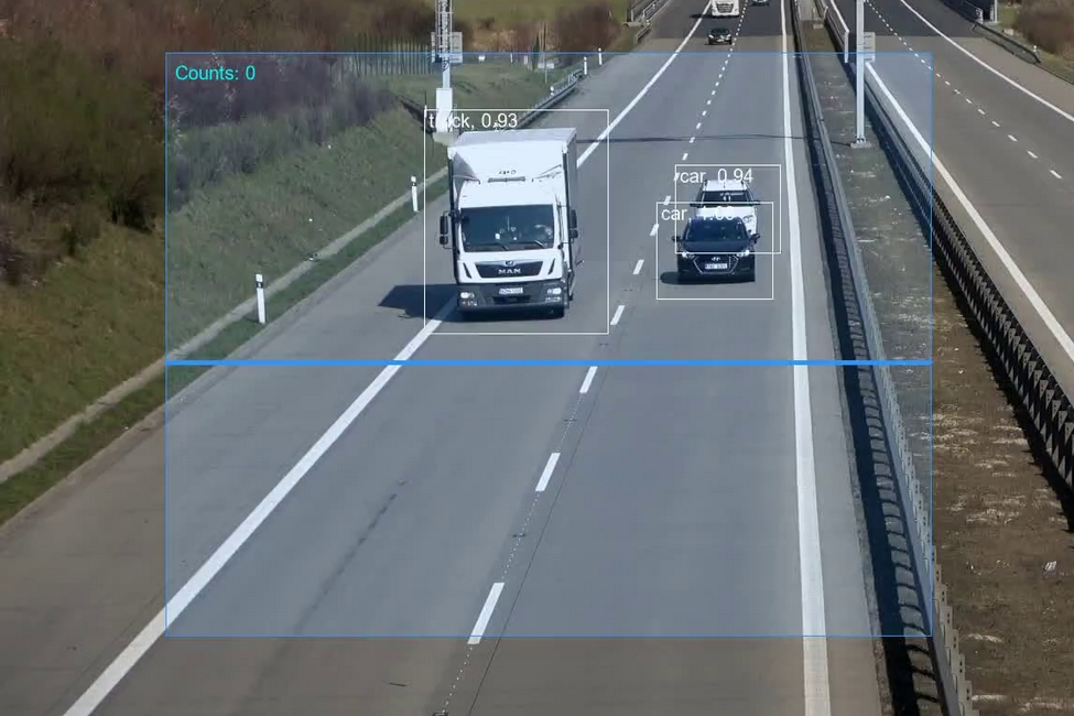Computer Vision Application to count vehicles