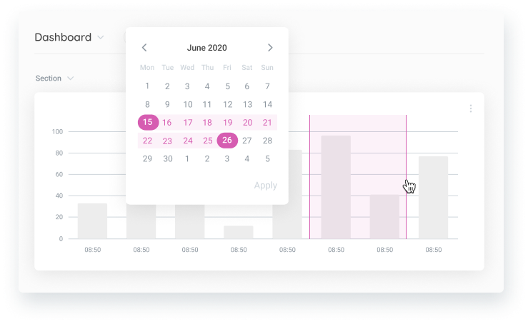 Dynamic filter and charts for vision dashboards