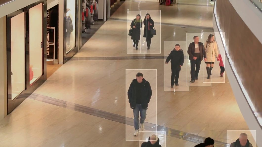 People Detection and Tracking with privacy face blur applied