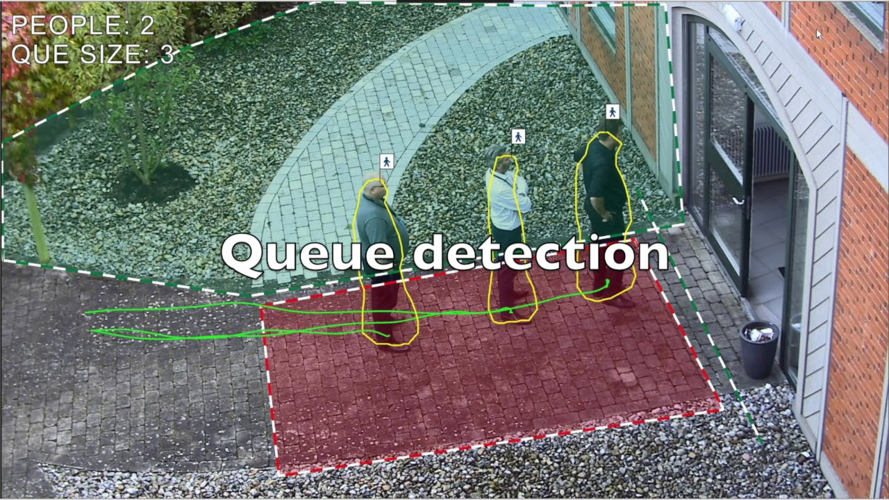 Queue detection with computer vision
