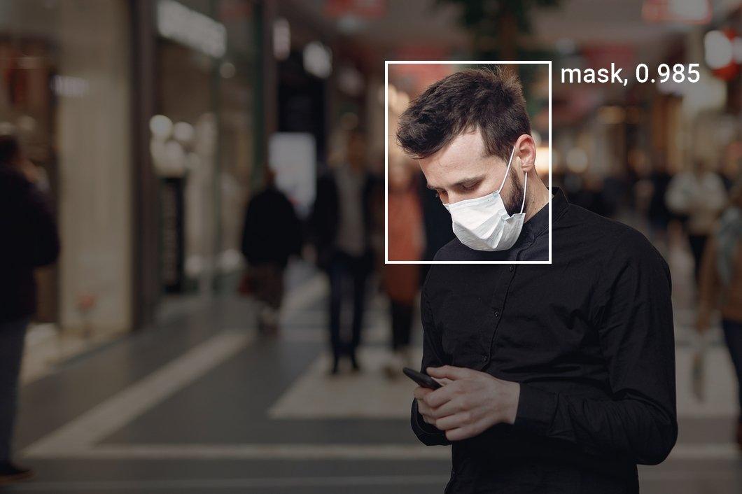 Computer vison based mask detection