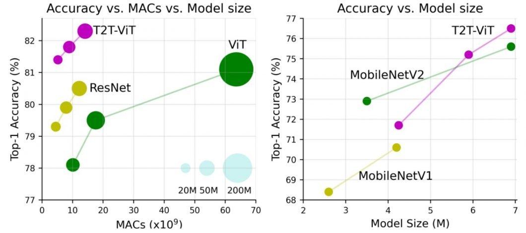 Performance benchmark comparison of Vision Transformers (ViT)