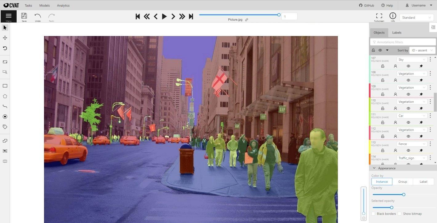 Computer Vision Annotation Tool CVAT